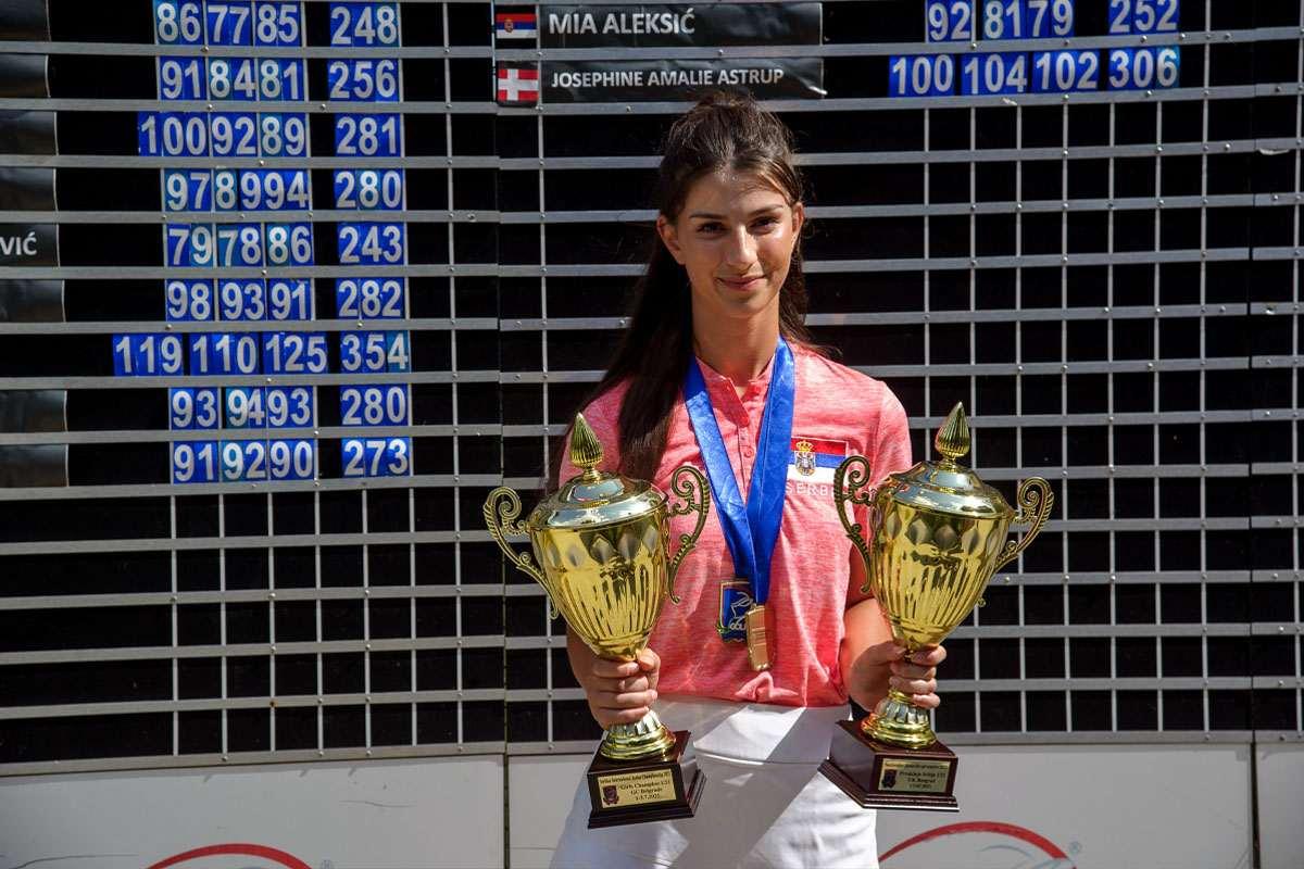 Lara Todorović, Nacionalna juniorska Prvakinja Srbije do 21. godine, beograd, juli, 2021. godine
