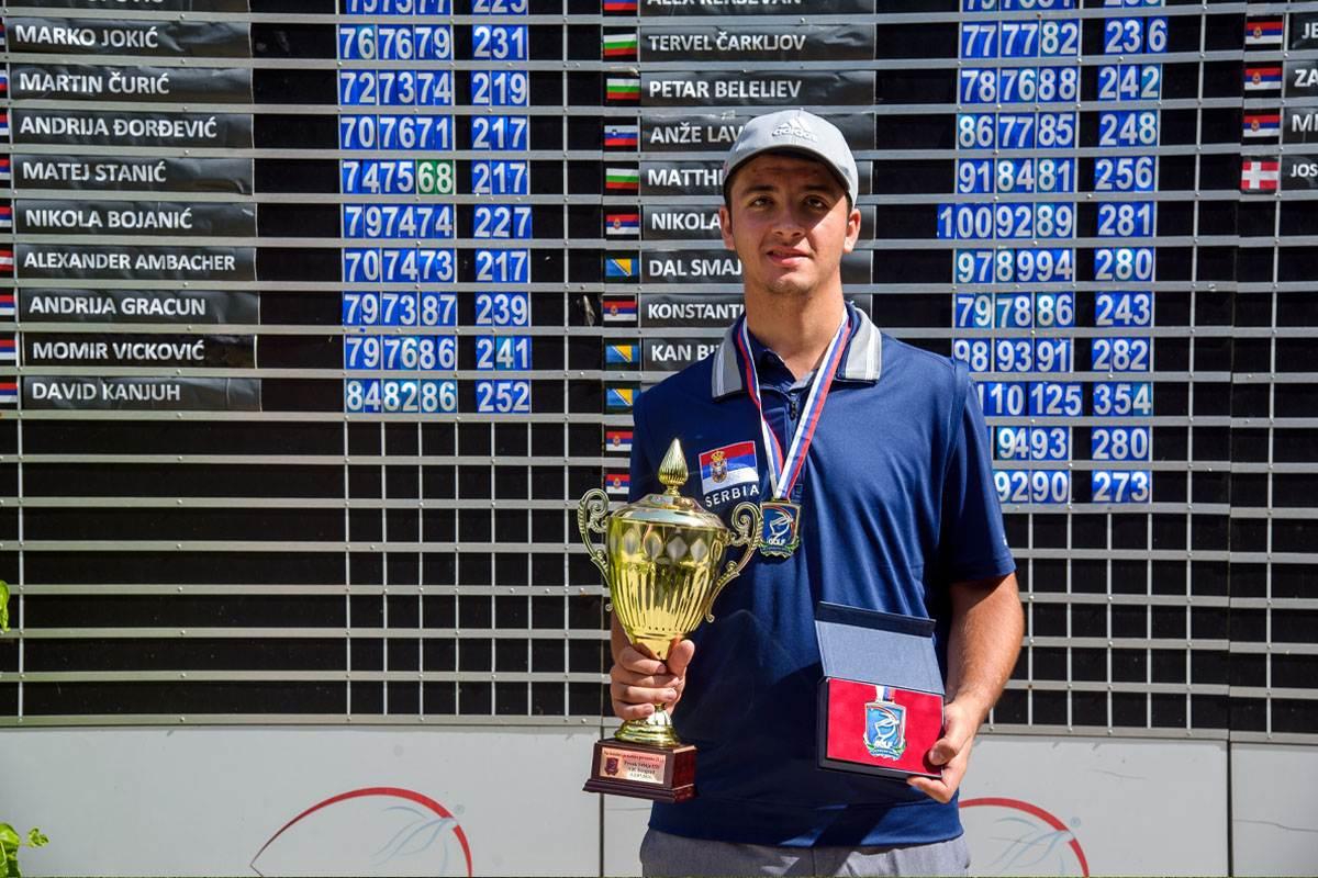 Matej Stanić, juniorski prvak Srbije do 21. godine, Beograd, juli, 2021. godine